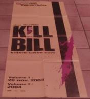 AFFICHE CINEMA ORIGINALE FILM KILL BILL Uma THURMAN Quentin TARANTINO TBE 2003 - Plakate & Poster