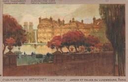 CPA à Système Contre La Lumière PARIS Jardin Et Palais Du Luxembourg Against Light  (2 Scans) - Contre La Lumière