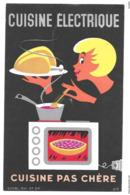 BUVARD Cuisine Electrique Cuisine Pas Chère  ( Tampon Jean Vest Gerardmer Au Verso ) - Electricité & Gaz