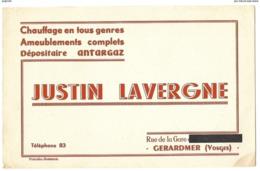BUVARD JUSTIN LAVERGNE Gerardmer - Buvards, Protège-cahiers Illustrés