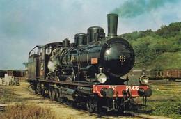 77 LONGUEVILLE. . LOCOMOTIVE A.J.E.C.T.A. AU DÉPÔT DE LONGUEVILLE. ANNEE 1973 - Trains