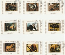 Umm Al Qiwain - Lot De 16 Timbres Les Animaux En Voie De Disparition - Année 1972 Mi 1530 à 1545 BwBL - Umm Al-Qaiwain