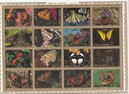 Umm Al Qiwain - Feuillet De 16 Timbres Papillons Année 1972 Mi 1498 à 1513 - Umm Al-Qaiwain