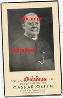 Doodsprentje Gaspar Ostyn Wervik 1856 Pastoor Te Heule En Veurne En Overleden In 1940  Bidprentje - Imágenes Religiosas