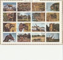 Umm Al Qiwain - Lot 32 Timbres En 2 Feuillets -  Les Animaux Sauvages - Année 1972  Mi 1002 à 1017 Et Mi 1130 à 1145 - Umm Al-Qaiwain