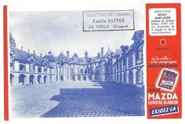 BUVARD La Pile Mazda Chateau Boissy-Saint-Léger  (Tampon Camille HATTON  Le Tholy Vosges ) - Buvards, Protège-cahiers Illustrés