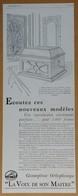 Publicité 1929 Gramophone Coffret N°104 La Voix De Son Maître - - Publicidad