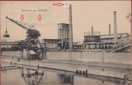 Mol Glasfabrik Glasfabriek Van Gompel Verrerie Laadkaai Loskaai Kaai Kraan Laadkraan Antwerpse Kempen Nijverheid - Mol