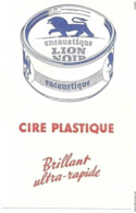BUVARD LION NOIR Encaustique Cire Plastique - Produits Ménagers
