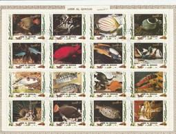 Umm Al Qiwain - 2 Planches De 16 Timbres Poissons Tropicaux Année 1972 Mi 1306 à 1321 Et 1466 à 1481 - Umm Al-Qiwain