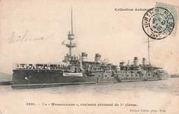 Bateau Guerre Marine Militaire Française La Marseillaise Croiseur Cuirassé De 1ere Classe Cachet 1905 - Guerre
