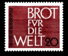 Allemagne 1962 Mi.:nr:389 Brot Für Die Welt  Neuf Sans Charniere / Mnh / Postfris - [7] République Fédérale