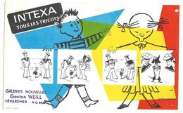 BUVARD INTEXA Tous Les Tricots ( Tampon Gaston WEILL Gérardmer ) - Textile & Vestimentaire