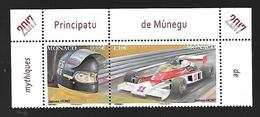 Monaco 2017 -  Yv N° 3070 & 3071** -  LES PILOTES MYTHIQUES DE F1 - JAMES HUNT (Mi N° 3327/28) - Monaco