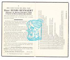 DP Henri Reynaert ° Beselare Zonnebeke 1873 † 1947 X Emma Fieuw Xx Nath. Delrue / Capelle Defoor Wattenberg VanHolst - Images Religieuses