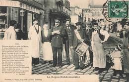95 Pontoise Rue Thiers Le Repos Hebdomadaire Garde Champetre Avis Faisons Savoir Au Nom Du Mer - Pontoise