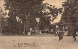 Indonesie, Batavia, Ingang Kazerne Te Pasar Senen      (bon Etat) - Indonesië