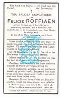DP Felicie Roffiaen ° Ieper 1863 † 1946 - Images Religieuses