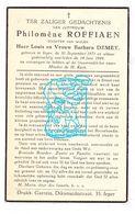 DP Philomène Roffiaen / Demey ° Ieper 1871 † 1949 - Images Religieuses