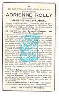 DP Adrienne Rolly ° Oedelem Beernem 1896 † Moerkerke Damme 1946 X Maurice Wittevrongel - Images Religieuses