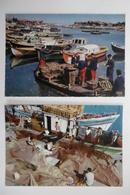 Métiers De La Mer : Triage De Huîtres Et Remaillage Des Filets De Pêche - Lot De 2 Cartes Postales - Pêche