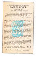 DP Kamiel Roose ° Zuidschote Ieper 1864 † Poelkapelle 1944 X ML. Cherf - Images Religieuses
