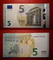 GERMANY GERMANIA 5 EURO 2013 DRAGHI SERIE WA 2062119133 W002D3 UNC FDS - 5 Euro
