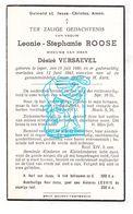 DP Leonie St. Roose ° Ieper 1860 † 1943 X Désiré Versaevel - Images Religieuses