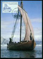 Mk Greenland Maximum Card 2001 MiNr 362 | Greenland Vikings, Mouse Sitting On Food, Viking Ship Saga Siglar - Cartes-Maximum (CM)
