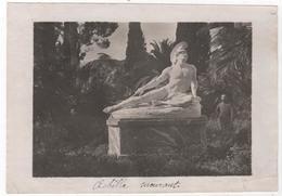 Photo Originale Guerre D'Orient GREECE GRECE CORFOU L'Achilléion Jardin Statue D'Achille - Guerre, Militaire