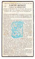 DP Lucie Rosez ° Moorslede 1861 † Passendale Zonnebeke 1941 X Désiré Joye - Images Religieuses