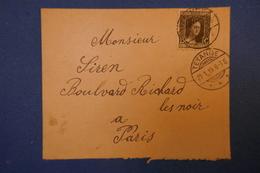 149   Luxembourg 1919  PETITE LETTRE  DE TETANGE A Paris Rue Richard Lenoir ( Les Noir )  AFFRANCHISSEMENT PLAISANT - 1914-24 Marie-Adelaide