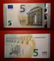 GERMANY GERMANIA 5 EURO 2013 DRAGHI SERIE WA 2060316937 W002A3 UNC FDS - 5 Euro