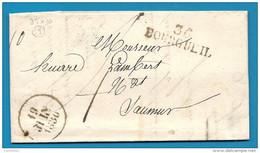 Indre Et Loire - Bourgueil Pour Saumur (Maine Et Loire). LAC De 1830 - Marcofilia (sobres)