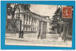 Semeuse YT138A Oblitéré VERSAILLES CHATEAU / CONGRES DE LA PAIX. 1909. Hotel Transformé En Hopital Anglais - Marcophilie (Lettres)