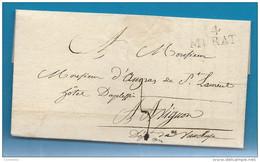Cantal - Murat Pour Avignon (Vaucluse). LAC De 1824 - Marcofilia (sobres)