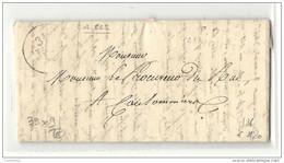 Seine Et Marne - Faremoutiers Pour Coulommiers. LAC En Port Payé. MP 38x9 Frappée à Sec. Indice 16 - 1801-1848: Précurseurs XIX