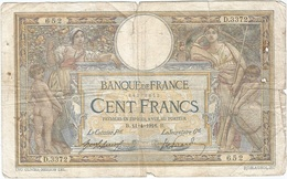 Francia - Francia 100 Francs 11-4-1916 Pk 71 A.2 Firmas Laferrière Y Picard Ref 3667 2 - 1871-1952 Antichi Franchi Circolanti Nel XX Secolo