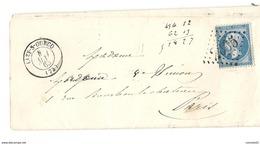 Seine Et Marne - Lizy Sur Ourcq Pour Paris. 1863 - Marcofilia (sobres)