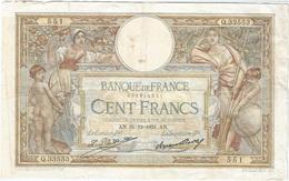 Francia - Francia 100 Francs 31-12-1931 Pk 78 B.3 Firmas Platet Y Strohl Ref 3668-2 - 1871-1952 Antichi Franchi Circolanti Nel XX Secolo