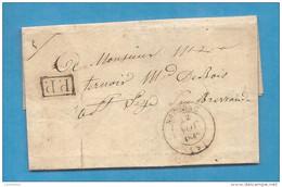 Aube - Estissac. LAC En Port Payé De 1848. Cote 30e - Marcophilie (Lettres)