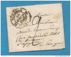 Aube - Estissac Pour Un Maitre Des Postes à Remettre à Quelqu'un Pour Sens Sur Yonne. 1843. Ecrite à Neuville - Marcophilie (Lettres)