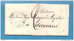 Maine Et Loire - Fontevrault Pour Saumur. CàD Type 12. MAISON CENTRALE DE DETENTION. Theme Prison - Postmark Collection (Covers)