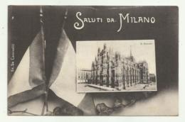 SALUTI DA MILANO -  1916 VIAGGIATA FP - Milano (Milan)
