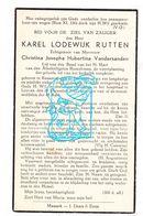 DP Karel Lodewijk Rutten ° Kessenich Kinrooi 1899 † Leuven 1941 X Christina J. Hubertina VanderSanden - Images Religieuses