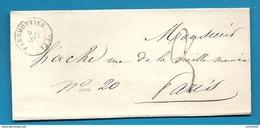 Seine Et Marne - Faremoutiers Pour Paris. CàD Type 15A + Taxe Tampon 3 - 1801-1848: Précurseurs XIX
