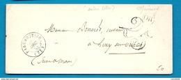 Seine Et Marne - Faremoutiers Pour Lizy. CàD Type 15A + Taxe Tampon 25. Enveloppe De 1853 - 1801-1848: Précurseurs XIX