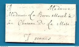 Mayenne - Laval Pour Le Chateau De La Mote à Gennes (sur Seiche) - Ille Et Vilaine. LAC De 1697 !!! - Marcophilie (Lettres)