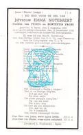 DP Emma Notebaert / Fache ° Ieper 1860 † 1942 - Images Religieuses