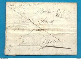 Basses Alpes - Riez Pour Digne. LAC De 1820 - Marcofilia (sobres)